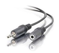 3.5 mm stereo male to female extension cable