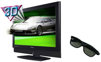 example of 3d television with 3d glasses