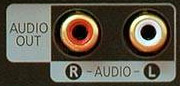 RCA stereo audio out port on TV
