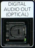 toslink optical audio out port on TV